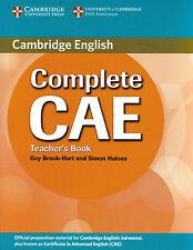 Cambridge COMPLETE CAE Teacher's Book CERTIFICATE IN ADVANCED ENGLISH @NEW@