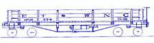 Et&Wnc Tweetsie 32' Gondola Hon3 Model Railroad Unpainted Craftsman Kit Tc3410