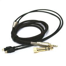 Black Replacement Cable For Sennheiser HD414 HD430 HD650 HD600 HD580 headphone