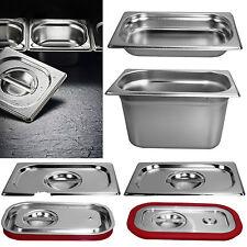 1/4 Gastronorm GN Behälter / Deckel Edelstahl 20 mm - 200 mm Höhe