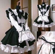 NEW Halloween Gothic Lolita Cosplay Costume Sissy Maid Dress Custom Made