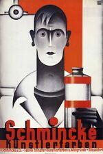 Vintage 1930's Bauhaus Alemana Art suministros Publicidad A3 Cartel Reimpresión