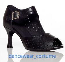 Leder Latein Tanzschuhe Damen Corium Ballsaal Tango Tanzen Salsa Schuhe EU34-42