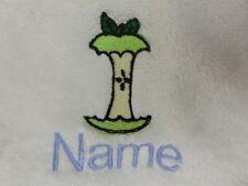 pomme âme et nom de choix brodé sur serviettes, bain Robes, à capuchon serviette
