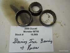 2000 Ducati Monster M 750 Steering Stem Bearings Races