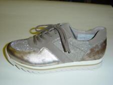 Gabor Sneaker Halbschuhe | gold/beige/silber | Leder/Textil | UK 5,5 6 6,5 7,5