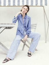 NWT £128 Designer J Crew Collection Rhone Shirt Blazer Jacket French Cobalt