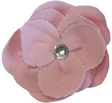 Pretty Lona Flor De Tela Broche Pin Accesorio Con Diamante