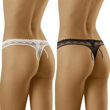 String sexy femme blanc noir taille basse lingerie WOLBAR KANIKANI 34 36 38 40