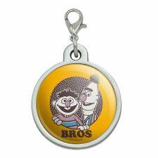 New listing Sesame Street Bert and Ernie Bros Chrome Plated Metal Pet Dog Cat Id Tag