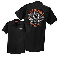 Route 66 Mechanic Shirt Work Retro Biker Mens Sizes Small to 6XL Free Shipping
