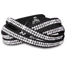 CASPAR AZ308 Women`s Sparkling Rhinestone Bracelet with Glass Crystals Accessory