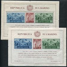 1945 San Marino foglietti Carducci coppia nuovi ** NH