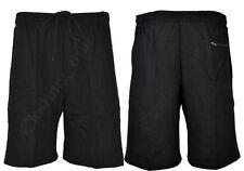 S19 Mens Plain Summer Gym Running  Fleece Jogger Shorts Elasticated waist 30-40