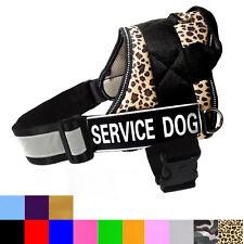 Service Dog Vest Soft Large Dog Harness REFLECTIVE Safe Removable label Patches