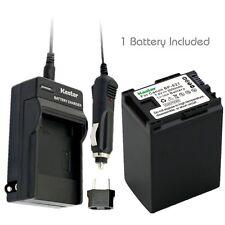 BP-827 Battery & Regular Charger for Canon FS10 FS11 FS100 FS21 FS22 FS200 FS31