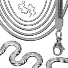55cm Collana Catena Serpente Snake Catenina uomo donna argento acciaio spessore
