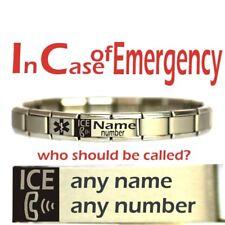 Personalised Emergancy Contact MEDICAL ALERT BRACELET