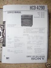 Service-Manual Sony HCD-A290 hifi-Anlage,ORIGINAL
