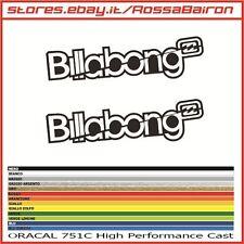 KIT 2 ADESIVI BILLABONG 1 SURF mm.200x56 - STICKERS AUFKLEBER PEGATINAS DECALS