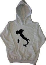 Italy Outline Kids Hoodie Sweatshirt