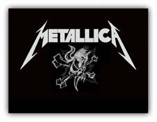 Metallica Skull Music Car Bumper Sticker Decal - 3'' or 5''