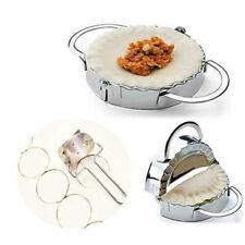 Stainless Steel Dumpling Mould Maker Dough Presser + Flour Ring Cutter Set