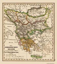 Old Mediterranean Map - Greece and Turkey - Stieler 1852 - 23 x 25.67