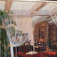 Modern Door Window String Tassel Curtain Divider Crystal Beads Panel Room Decor
