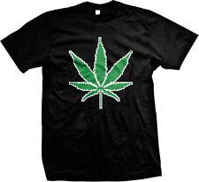8-bit Pot Leaf Weed 420 Ganja Marijuana Toke Smoke Stoner Kush High Mens T-shirt