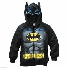 Batman Zip Up Costume Hoodie size 14-16 Xl 18 Xxl New Sweatshirt Childs