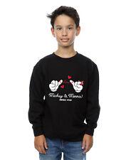 Disney Boys Mickey Mouse Love Hands Sweatshirt