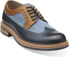 Clarks Hombre Darby LIMITE azul marino Combi Trendy & Elegante GB 8G