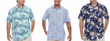 NWT Foundry Men's Big Tall Hawaiian Palm Trees S/S Button up Rayon Dress Shirt