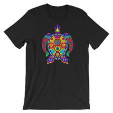 Trippy Colorful Sea Turtle Tortoise Short-Sleeve Unisex T-Shirt