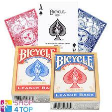 Bicycle League Back Standard Index Poker Spielkarten Magisch Tricks Rot Blau Neu