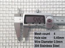 "Woven Wire, 4 Mesh 1/4"" 30cm x 30cm x 5mm Heavy Duty & Light Stainless Steel"