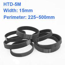 HTD 5M Zahnriemen schließen Bogenzähne 15mm Breite 225 ~ 500mm Timing Belt
