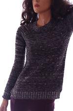 Daisy Fuentes Womens Juniors Striped Black White Cotton SWEATER Shirt XS XL NEW