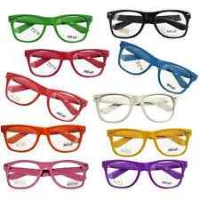 Neu! Trend Nerd Brille Wayfarer Clear Streber Hornbrille Atzenbrille ohne Stärke