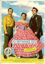 THE MAN FROM COLORADO 1948 GLENN FORD  WILLIAM HOLDEN ELLEN DREW SPANISH POSTER