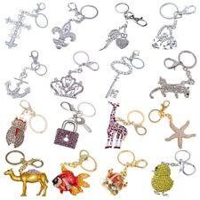 Fashion Novelty Crystal Keychain Bag Decoration Cute Animal Pendant Ring Chain