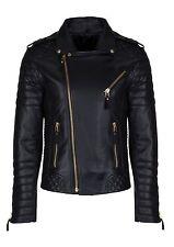 Men's Leather Jacket Biker Motorcycle Coat Black Slim Fit Outwear Jackets - 4