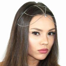 Kristin Perry Dainty Crystal Chain Headpiece Boho Headband