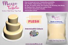 Massa Taffeta Fondant Sugar paste Ready to Rolled Icing Cake Craft | Flesh Color