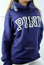 Victoria's Secret PINK High Neck Pullover Logo Fleece Cowl Sweatshirt