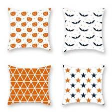 Halloween Pumpkin Bat Pillows Cover Pillow Case Sofa Waist Throw Cushion Cover
