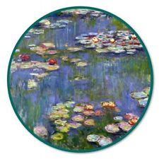 Water Lillies Art Circle Car Vinyl Sticker - SELECT SIZE