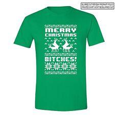 Merry Christmas B*tches - UGLY CHRISTMAS shirt Santa Party Men Women T-shirt GRN