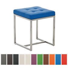 Tabouret bas BARCI similicuir design chaise siege salon rembourré cuisine neuf